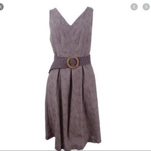 Nine West Fit & Flare pleated skirt dress